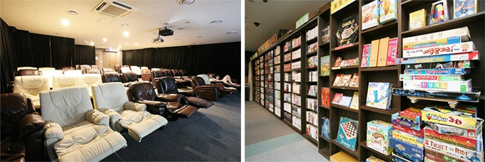 movie room in Korean spa